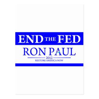 Ron Paul Restore America Now Banner Postcard