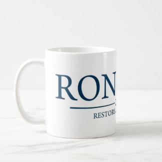 Ron Paul Restore America Now Coffee/Tea Cup/Mug Classic White Coffee Mug