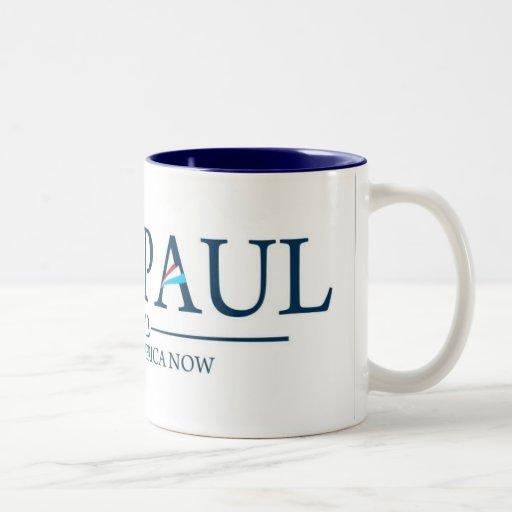 Ron Paul Restore America Now Coffee/Tea Cup/Mug Two-Tone Coffee Mug