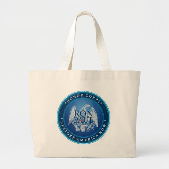 Ron Paul Restore America Now Large Tote Bag