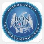 Ron Paul Restore America Now Square Stickers