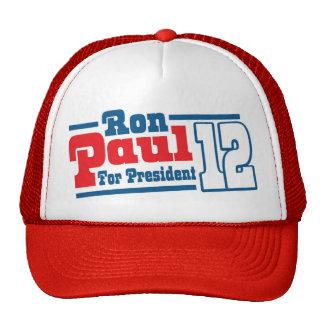 Ron Paul retro para el gorra 2012 del presidente f