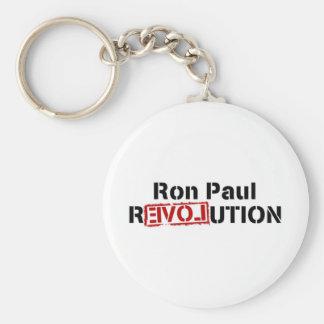 ron-Paul-revolución Llavero Redondo Tipo Pin