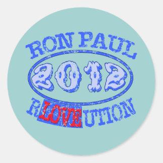 Ron Paul REVOLUTION 2012 Campaign Gear Round Sticker