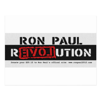 Ron Paul rEVOLution 2012 www.ronpaul2012.com Postcard