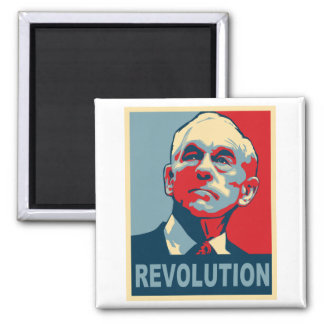 Ron Paul Revolution 2 Inch Square Magnet