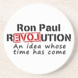 Ron Paul rEVOLution An Idea Whose Time Has Come Beverage Coasters
