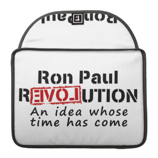 Ron Paul rEVOLution An Idea Whose Time Has Come MacBook Pro Sleeves