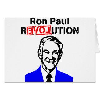 Ron Paul Revolution Blue n Red Card