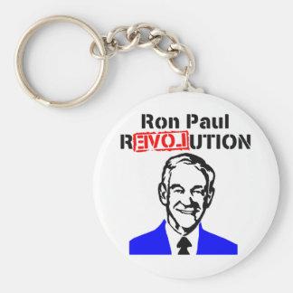 Ron Paul Revolution Blue n Red Basic Round Button Keychain