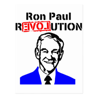 Ron Paul Revolution Blue n Red Postcard