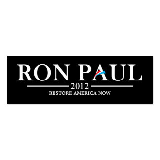 Ron Paul Revolution Bookmark Double-Sided Mini Business Cards (Pack Of 20)