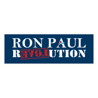 Ron Paul Revolution Bookmark (Dark Blue) Double-Sided Mini Business Cards (Pack Of 20)