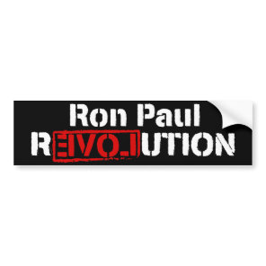 Ron Paul Revolution Bumper Sticker