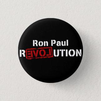 Ron Paul Revolution Button Pin inverse logo