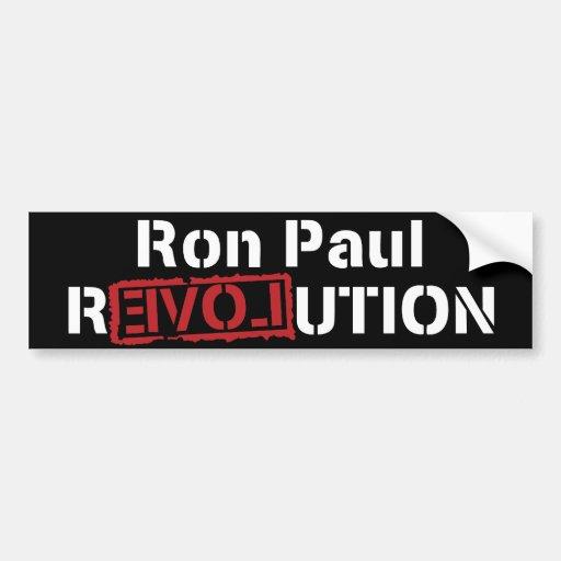 Ron Paul Revolution Car Bumper Sticker