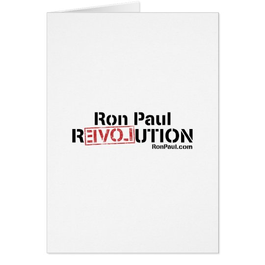 Ron Paul Revolution Card