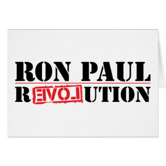 Ron Paul Revolution Greeting Cards