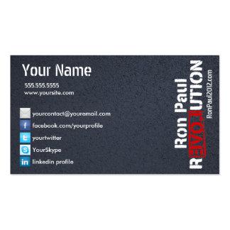 Ron Paul Revolution Card Business Card Template