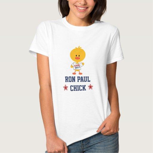 Ron Paul Revolution Chick T-shirt EVOL 2012