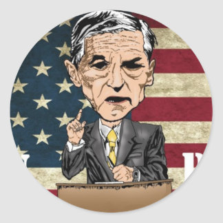 RON PAUL REVOLUTION CLASSIC ROUND STICKER