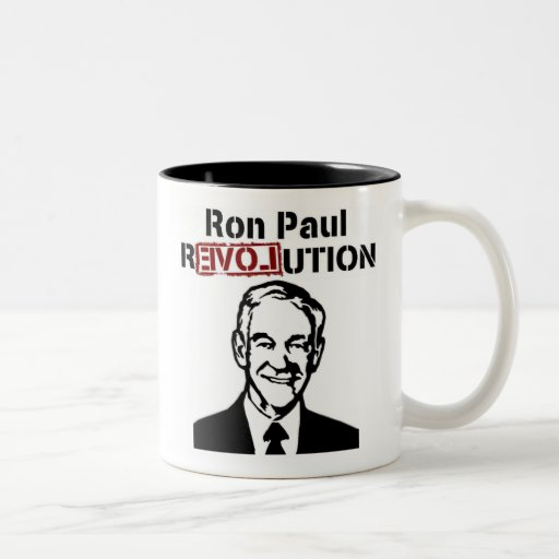Ron Paul Revolution Coffee/Tea Mug/Cup Two-Tone Coffee Mug