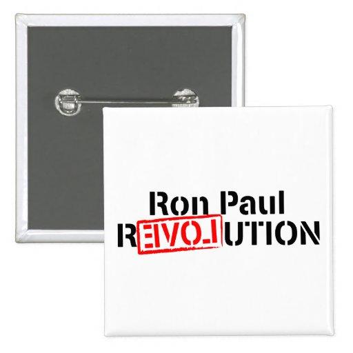 Ron Paul Revolution Continues 2 Inch Square Button