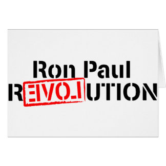 Ron Paul Revolution Continues Card