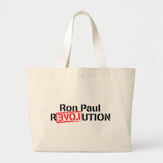 Ron Paul Revolution Continues Large Tote Bag
