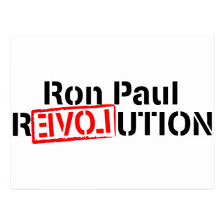 Ron Paul Revolution Continues Postcard