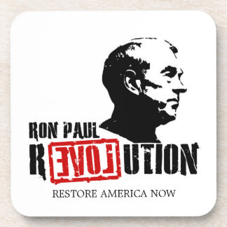 Ron Paul Revolution Drink Coasters