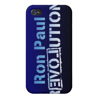 Ron Paul rEVOLution Electric Blue Logo iPhone 4/4S Cover
