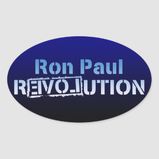 Ron Paul rEVOLution Electric Blue Logo Oval Stickers