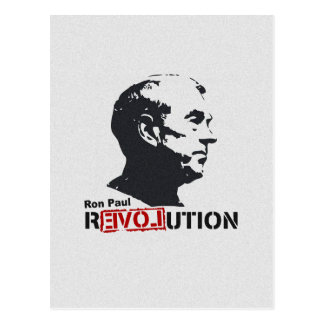 Ron Paul rEVOLution Face Stencil Postcard
