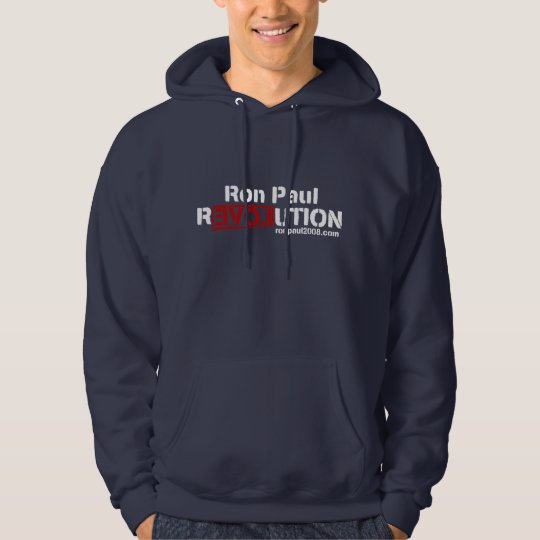 Ron Paul Revolution Fitted Hooded Hoodie