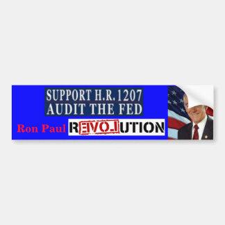 Ron Paul Revolution HR 1207 Audit the Fed Bumper Sticker