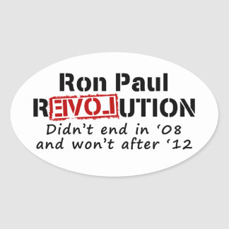 Ron Paul rEVOLution it didn t end in 08 Stickers