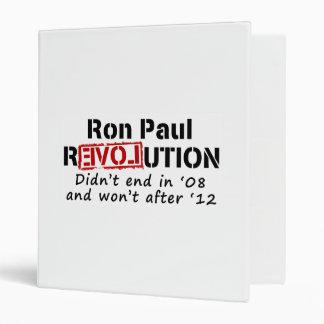 Ron Paul rEVOLution it didn't end in '08 Binder