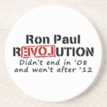Ron Paul rEVOLution it didn't end in '08 Beverage Coasters