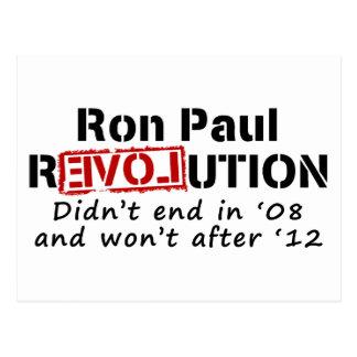 Ron Paul rEVOLution it didn't end in '08 Postcard