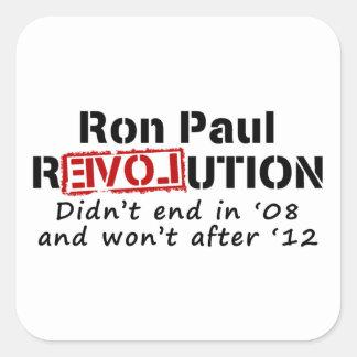 Ron Paul rEVOLution it didn't end in '08 Square Sticker