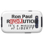 Ron Paul rEVOLution It's a message of Liberty Galaxy S3 Cases