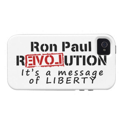 Ron Paul rEVOLution It's a message of Liberty iPhone 4/4S Case