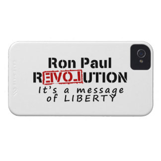 Ron Paul rEVOLution It's a message of Liberty iPhone 4 Case