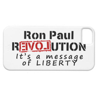 Ron Paul rEVOLution It's a message of Liberty iPhone SE/5/5s Case