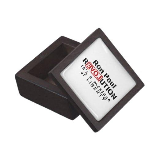 Ron Paul rEVOLution It's a message of Liberty Premium Trinket Box