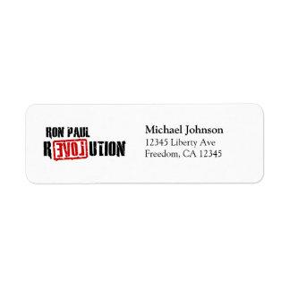 Ron Paul Revolution Custom Return Address Label