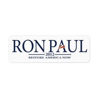 Ron Paul Revolution Label