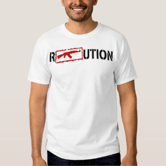 Ron Paul Revolution logo with an AK47 in it T Shirt