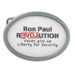 Ron Paul rEVOLution Never give up Liberty Belt Buckles